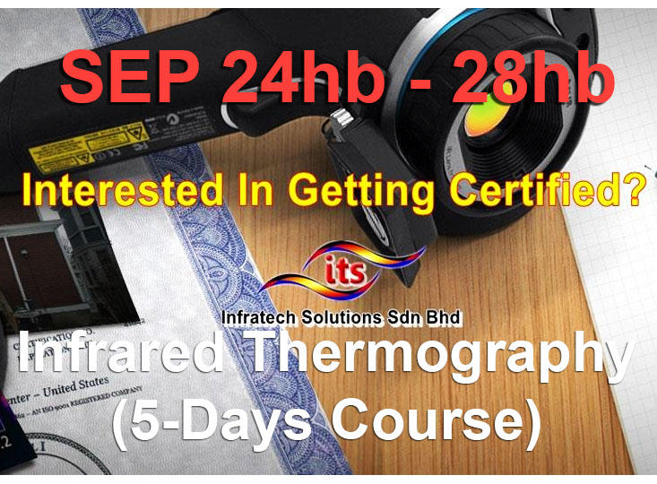 <strong>24th – 28th September 2018 Infrared Thermography (5 Days Course)</strong>